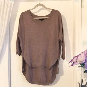 Express high low knit blouse